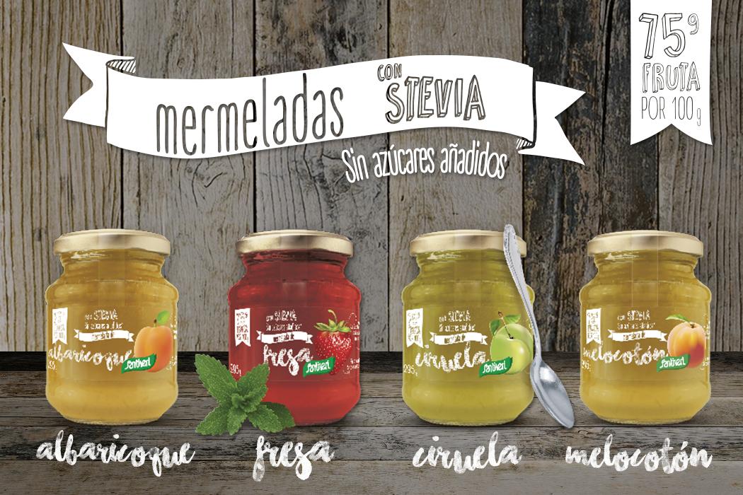 Mermeladas con stevia Santiveri