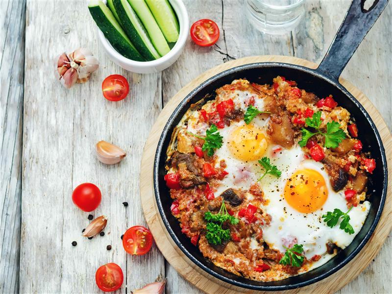 Receta Fritada de quínoa bio con setas y huevos