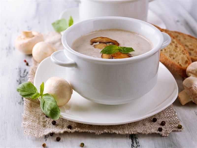 Receta invierno Crema de champiñones sin lactosa - Crema di funghi senza lattosio
