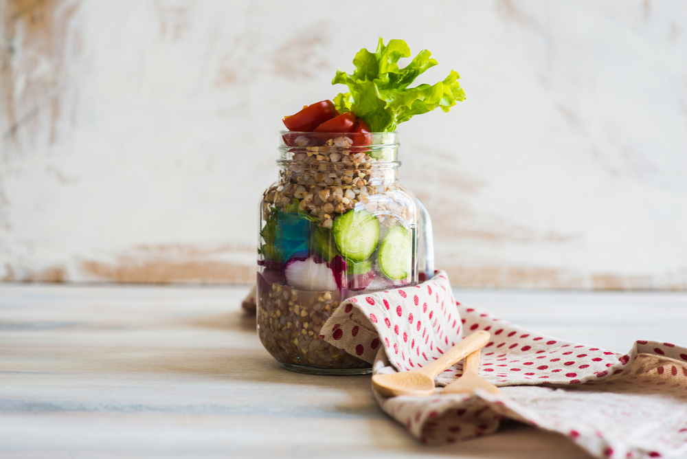 Ensalada de trigo sarraceno con hortalizas