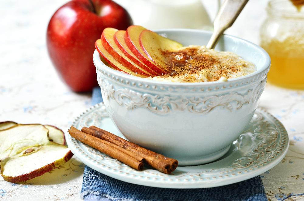 Porridge con manzana y canela