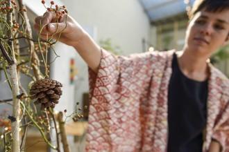 Árbol de Navidad sostenible Provamel evento bloggers