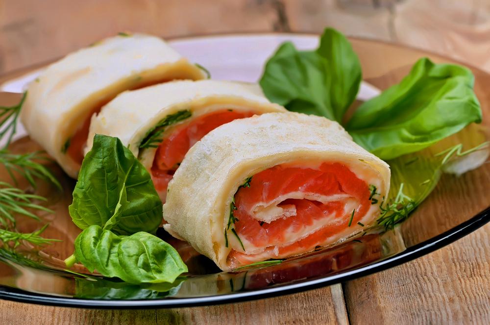 Rollitos de salmon sin gluten