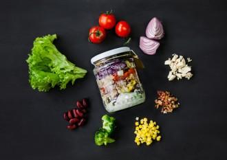 Salad jar jar salad recetas ensaladas tarro