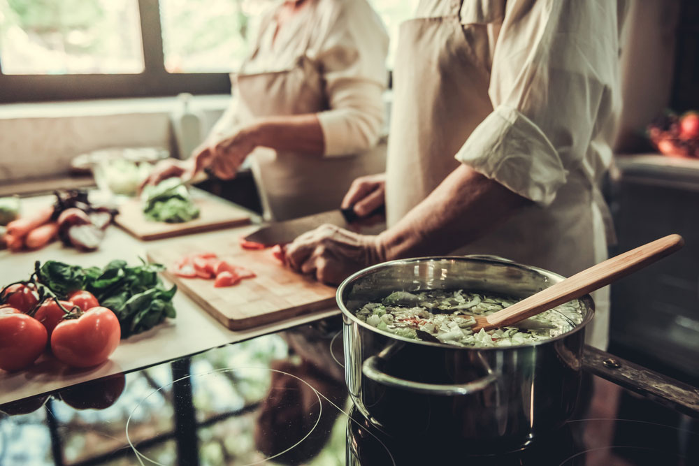 Sopa de verduras con un plus