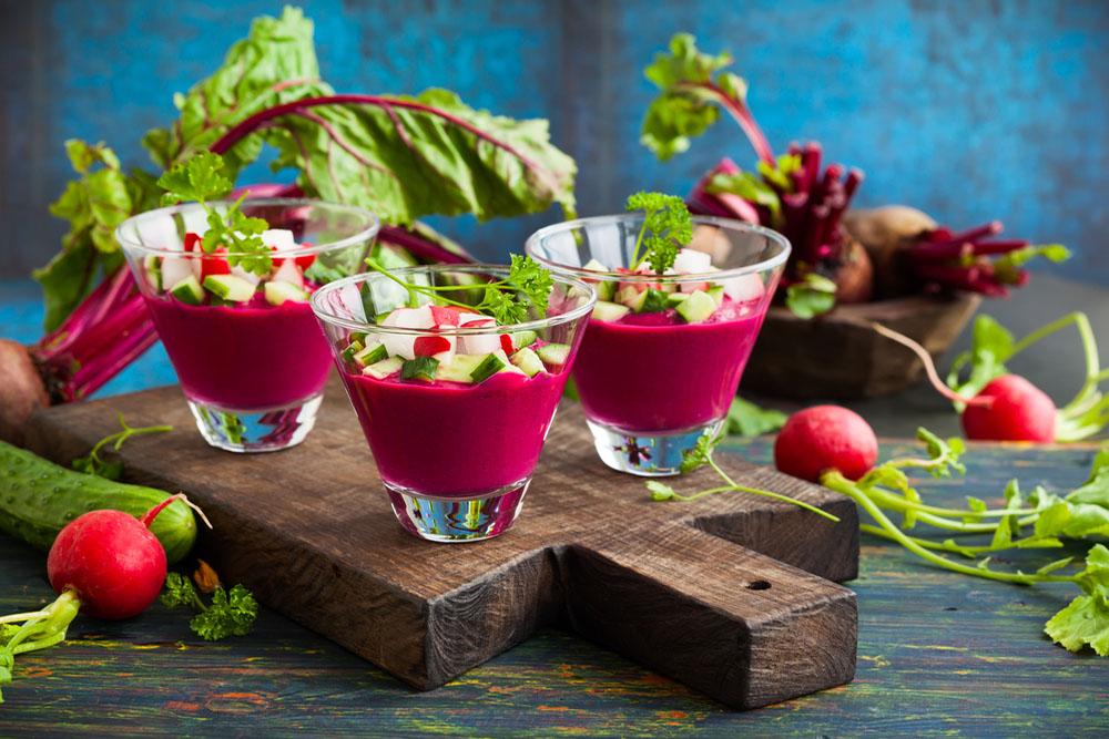 gazpacho di barbabietole