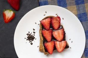 Pan Dextrin con chocolate y fresa