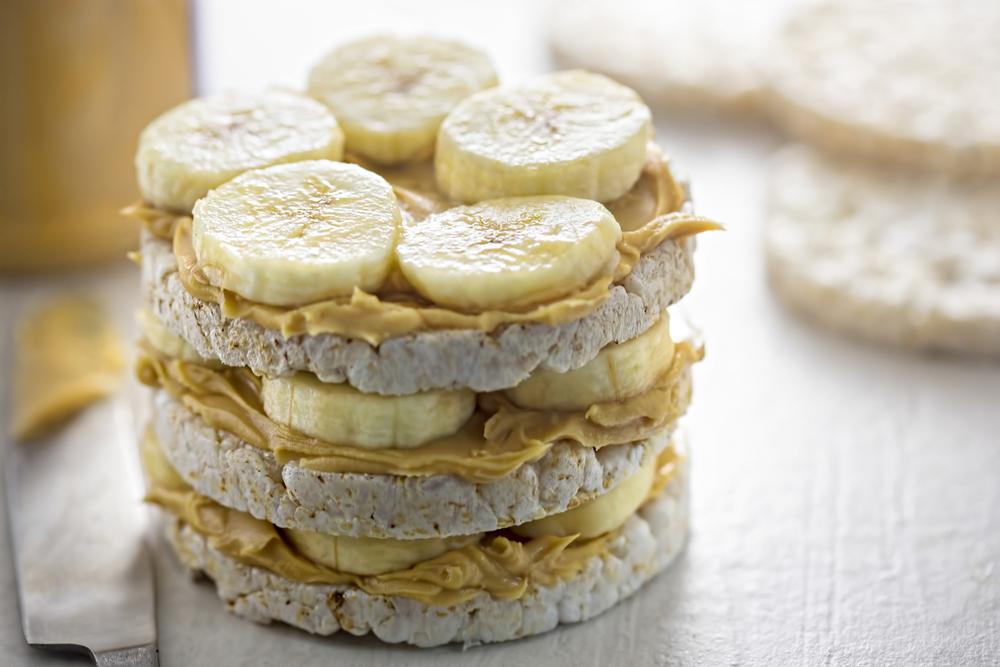 Tortini di riso, banana e crema di vaniglia