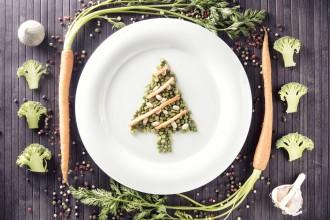 Cena de fin de año, de lujo y vegetariana