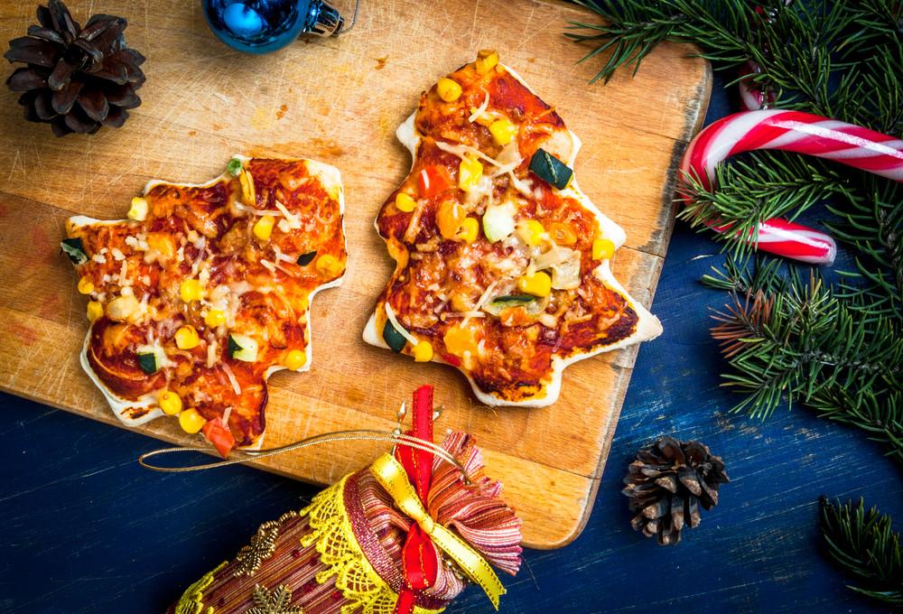 pizzettas navideñas